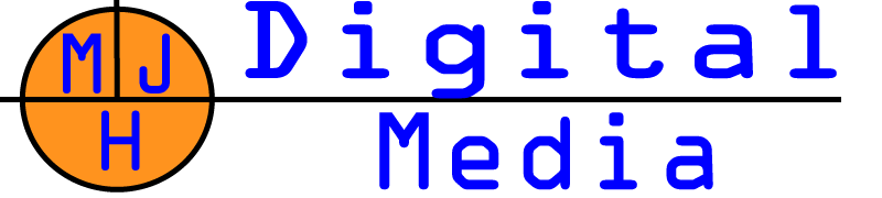 m j h digital media logo and link to website design site